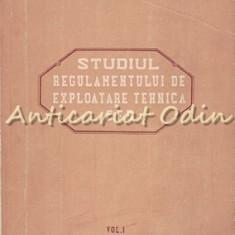 Studiul Regulamentului De Exploatare Tehnica CFR I - Constantin Arvunescu