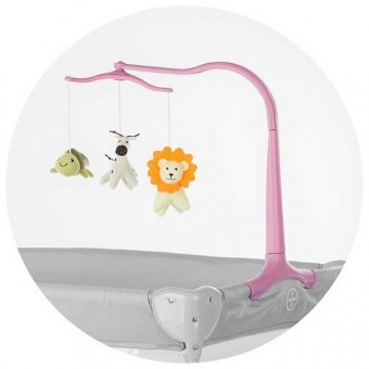 Carusel pentru patut Copii Chipolino Friends roz