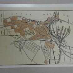 Harta Constanta, 1920, 15x22 cm, scara 1:30.000, lb. franceza
