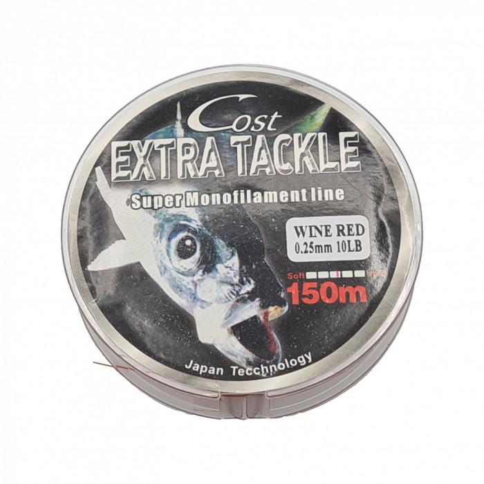 Fir monofilament pentru pescuit, 150 m, rosu, diametru 0.25 mm, 10 lb - 4.54 kg