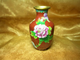 Vaza Cloisonne bujor, colectie, cadou, vintage