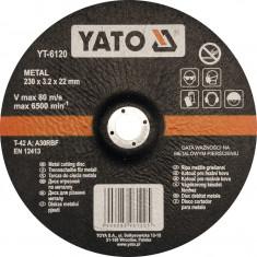 Disc debitat metale 230x3.2x22 mm YATO