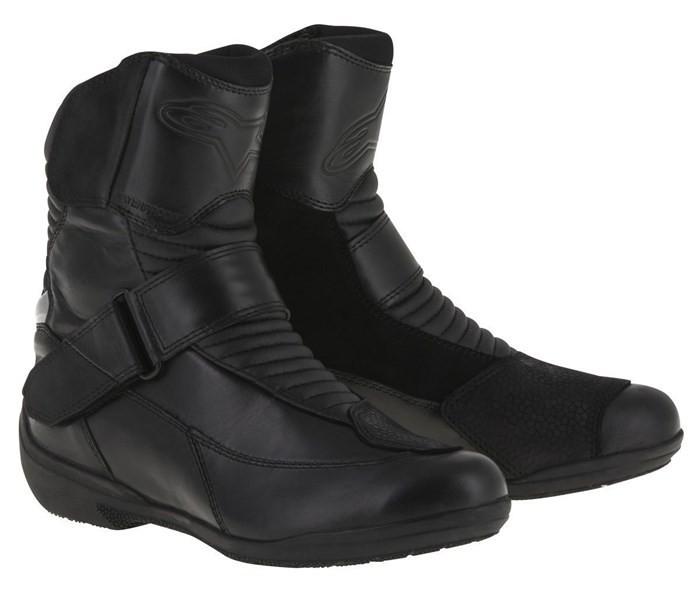 Ghete moto dame piele Alpinestars Stella Valencia WP culoare negru marime 38 Cod Produs: MX_NEW 24422161038AU