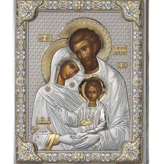 Icoana Argint Sfanta Familie 16*20 cm Auriu Cod Produs 2781