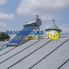 Kit Panou solar apa calda INOX nepresurizat 1ENERGY 100 litri - cu vas flotor