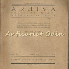 Arhiva Pentru Stiinta Si Reforma Sociala Anul XII, Nr.: 3 - 4