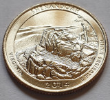 25 cents / quarter 2014 SUA, Virginia, Shenandoah, litera D, America de Nord