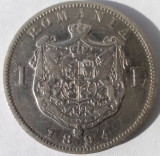 1 leu 1894, Carol I, argint, stare frumoasa !!