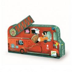 Puzzle Djeco - Masina de pompieri
