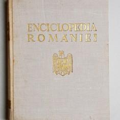ENCICLOPEDIA ROMANIEI VOL. I - IV editie coordonata de D. GUSTI - BUCURESTI, 1938,