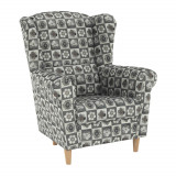 Fotoliu, material textil in stilul patchwork N1, CHARLOT