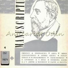 Manuscriptum. Revista Tremestriala - Nr.: 4/1971 (5), Anul II