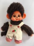 Monchhichi Sekiguchi, maimutica maimuta jucarie plus 18 cm, cu salopeta