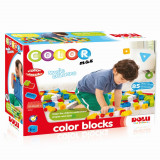 Cuburi colorate de construit - 85 piese, DOLU