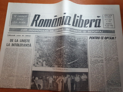 romania libera 26 mai 1990-ion iliescu 85.07 la suta din voturile pt presedinte foto