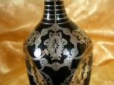 Decantor tarie De Luxe Argent Noir, sec 19, insertie argint, vintage