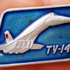 I.390 INSIGNA RUSIA URSS AVIATIE TUPOLEV TU 144 h17mm