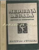 Cumpara ieftin Medicina Legala. Definitii Si Interpretari - T. Ciornea, Gh. Scripcaru