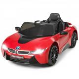 Mașinuță electrică pentru copii 12V BMW I8, Rosu