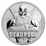 Moneda argint lingou + livrare GRATIS , Deadpool MARVEL 1 uncie