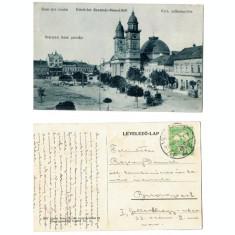 Satu Mare 1914 - Piata Deak, ilustrata circulata