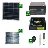Pachet Gard electric Animale Sălbatice 6,6J putere cu Sârmă 500m și Panou Solar