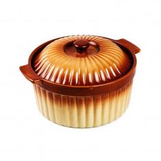 Cratita ceramica Vabene, 28 cm, 3 l, capac