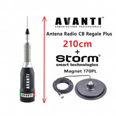 Set Antena Statie CB AVANTI Regale Plus 210cm + Magnet Storm 170PL