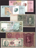Lot 6 bancnote straine, Taiwan, Portugalia, Angola, Ungaria, Ger
