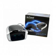 Lampa Profesionala Manichiura Hibrid LED+UV Lila Rossa 54W LR419