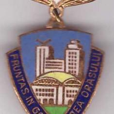 Insigna Fruntas in gospodarirea orasului 1976