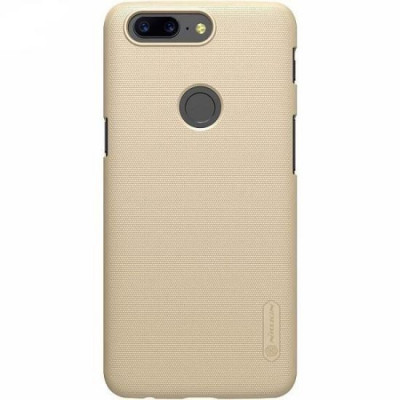 Husa OnePlus 5T Folie ProtectieNillkin Frosted Shield Aurie foto