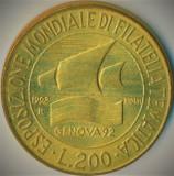 Moneda COMEMORATIVA 200 LIRE - ITALIA, anul 1992 *cod 1207 - A.UNC, Europa