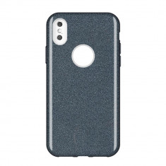 Husa Huawei P Smart 2019, Glitter / Sclipici, Negru