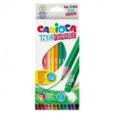 Creioane color Tita Erasable 12 culori