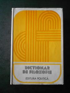 DICTIONAR DE FILOZOFIE (1978)