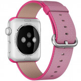 Curea pentru Apple Watch 42 mm iUni Woven Strap, Nylon, Electric Pink