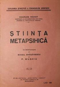 STIINTA METAPSIHICA - CHARLES RICHET