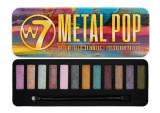 Paleta farduri W7 Metal Pop Soft Metallic Shimmers 12 culori metalice 15.6 g