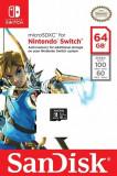 Memorie SanDisk 64GB microSDXC pentru Nintendo Switch