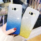 Husa silicon 3 in 1 cu sclipici degrade Samsung S9 plus gold