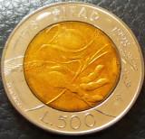 Moneda FAO COMEMORATIVA 500 LIRE - ITALIA, anul 1998 *cod 5362 - BIMETAL, Europa