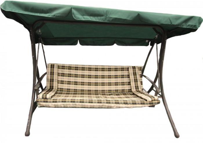Balansoar transformabil in pat, Nutusi, pentru 3 persoane, Tarrington House, Verde-Carouri