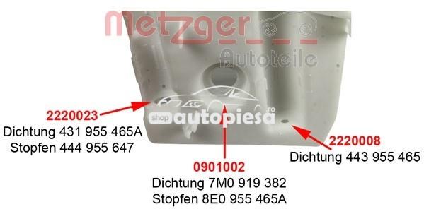 Rezervor apa,spalare parbriz AUDI A3 (8P1) (2003 - 2012) METZGER 2140121