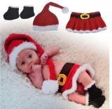 Costum crosetata Craciunita /sedinte foto bebelusi