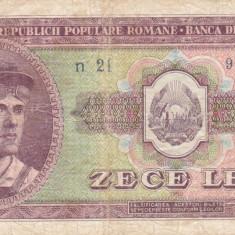 ROMANIA 10 LEI 1952 F