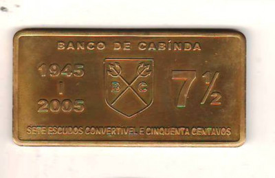 SV  *  CABINDA (enclava Angola)  7 1/2  ESCUDOS  2005 * FAO 60 ANI - 1945    UNC foto