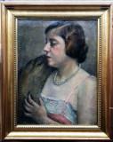 Tablou portret de dama Gall Ferenc (1912-1987)