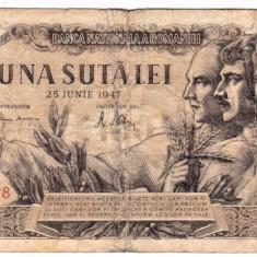 Bancnota 100 lei 25 iunie 1947 data rara