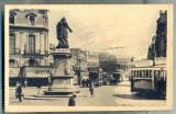 AD 507 C. P. VECHE -BORDEAUX-LA PLACE ET LE COURS ... -FRANTA -TRAMVAIE DE EPOCA